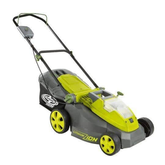 Sun Joe Ion16lm 40v 16 Quot Cordless Amp Brushless Electric Lawn