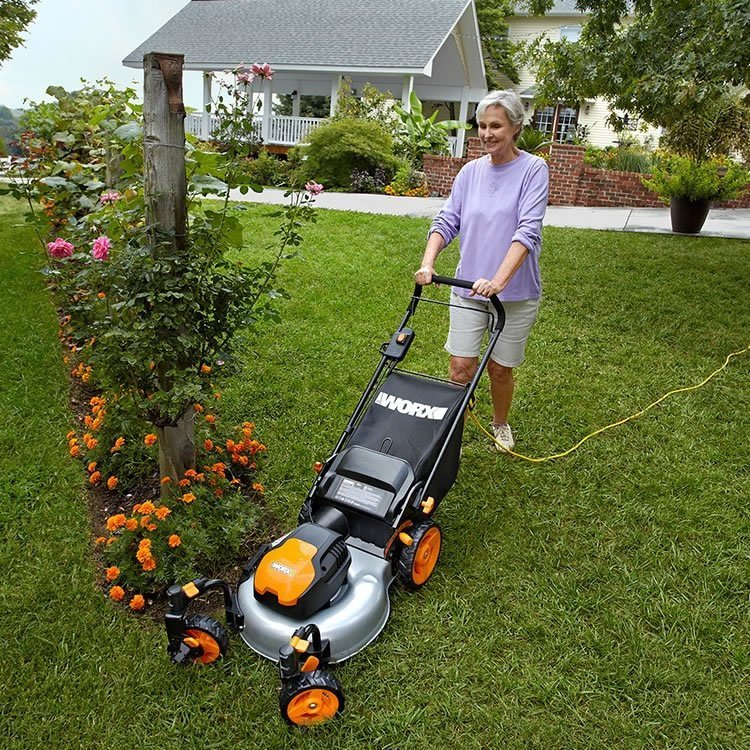 Worx Wg719 13 Amp Corded Electric Lawn Mower Review Best
