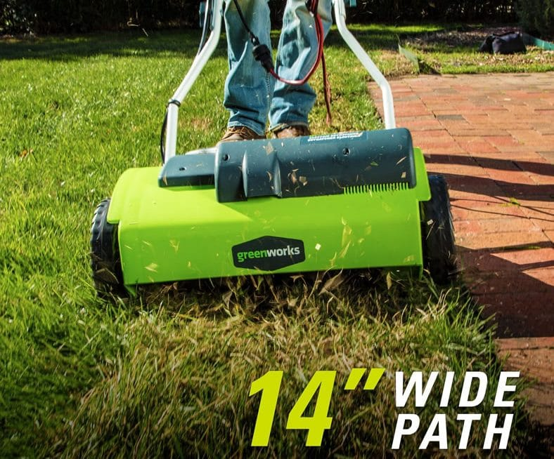 Greenworks 27022 10 Amp 14 Corded Dethatcher Best Lawn