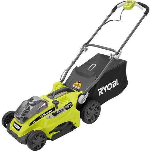 Ryobi P1111 ONE+ 16″ 18V Lithium Electric Lawn Mower Review