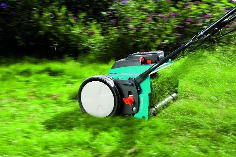 Gardena 4025 15 Inch Cordless Electric Push Reel Lawn