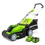 greenworks inch v cordless lawn mower ah battery included mob