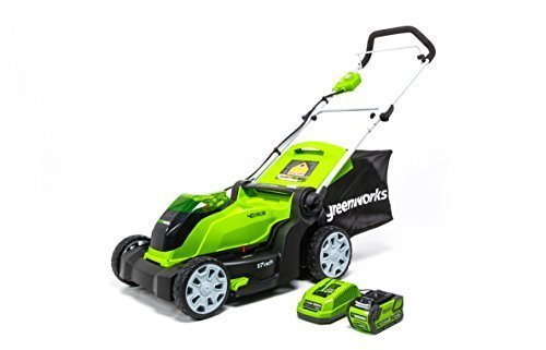 Greenworks MO40B411 17″ 40V Cordless Battery Electric Lawn Mower Review
