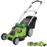 Greenworks 25302 Twin Force G-MAX 40-volt Lithium-Ion Cordless Lawn Mower Review