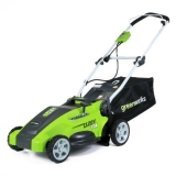 Greenworks 25142 16″ 10 Amp Corded Electric Lawn Mower Review