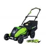 Greenworks 2500502 19″ 40V Brushless Cordless Battery Lawn Mower Review